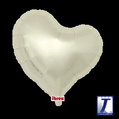 "Ibrex ""Sweet"" Srce Metallic Ivory folijski balon"