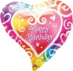 Standrad Watercolour Birthday folijski balon