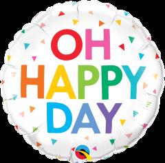 Standard Oh Happy Day Rainbow Confetti folijski balon