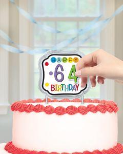 Dekoracija za tortu Happy Birthday