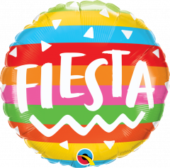 Standard Fiesta Rainbow Stripes folijski balon
