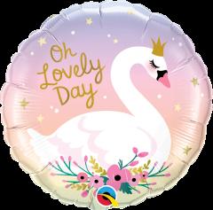 Standard Oh Lovely Day Swan folijski balon