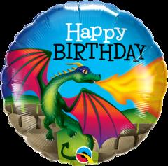 Standard Bday Mysthical Dragon folijski balon