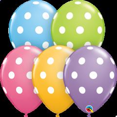 Lateks baloni 28cm Big Polka Dots Special Ast