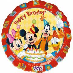 Standard Mickey Happy Birthday folijski balon