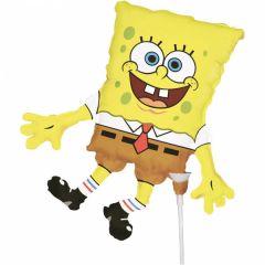 Mini Sponge Bob folijski balon na štapiću
