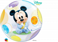Bubble Mickey Mouse Baby Stars pvc balon