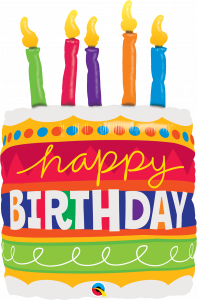 Maxi Bday Cake & Candles folijski balon