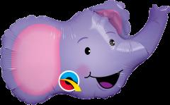 Mini Elated Elephant folijski balon na štapiću