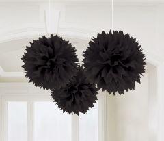 Black viseći pomponi