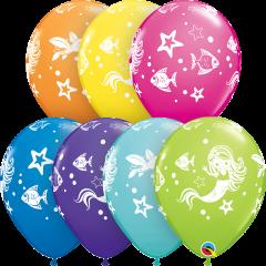 Lateks baloni 28cm Merry Mermaid&Friends Special Ast