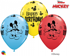 Lateks baloni 28cm Mickey Mouse Bday Special Ast