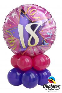 Balonska skulptura 18th Birthday Shining Star Pink