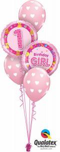 Buket balona 1st Bday Girl