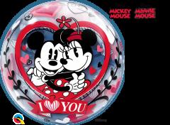 Bubble Mickey & Minnie I Love You pvc balon