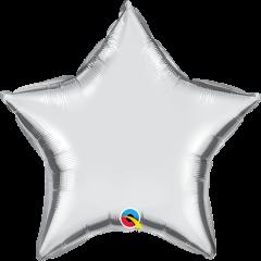 Mini Zvijezda folijski balon na štapiću 22,5cm - Silver