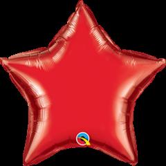 Mini Zvijezda folijski balon na štapiću 10cm - Ruby Red