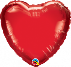 Mini Srce folijski balon na štapiću 22,5cm - Ruby Red