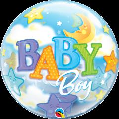 Bubble Baby Boy Moon & Stars pvc balon