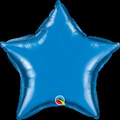 Mini Zvijezda folijski balon na štapiću 22,5cm - Sapphire blue