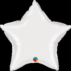 Mini Zvijezda folijski balon na štapiću 22,5cm - White