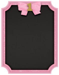 1st Birthday Pink & Gold ploča za pisanje kredom