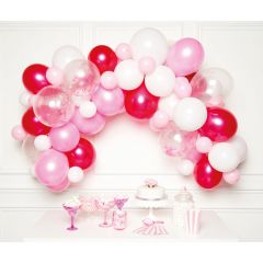 Diy Balonska girlanda Pink