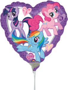 Mini My Little Pony Heart folijski balon na štapiću