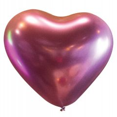 Lateks baloni Srce 30cm Satin Lux Flamingo
