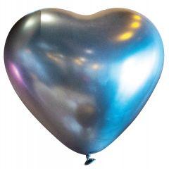 Lateks baloni Srce 30cm Satin Lux Platinum