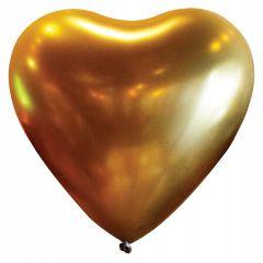 Lateks baloni Srce 30cm Satin Lux Gold Sateen