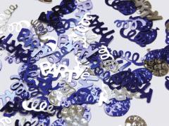 Konfeti Party Blue & Silver 12g