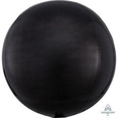 Orbz Black folijski balon