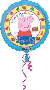 Standard Peppa Pig Happy Birthday folijski balon