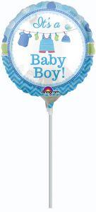 Mini Shower with Love Boy folijski balon na štapiću