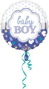 Standard Baby Boy Scallop folijski balon