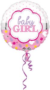 Standard Baby Girl Scallop folijski balon