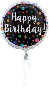 Polka Dot Bday folijski balon