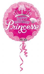 Standard Princess Crown & Gem HBD folijski balon