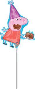 Mini Peppa Pig folijski balon na štapiću