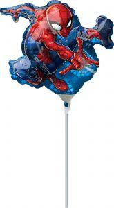 Mini Spider-Man folijski balon na štapiću
