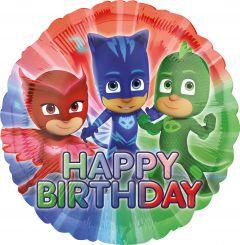 Standard PJ Masks Happy Birthday folijski balon