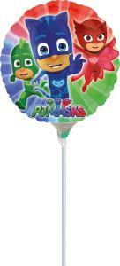 Mini PJ Masks folijski balon na štapiću