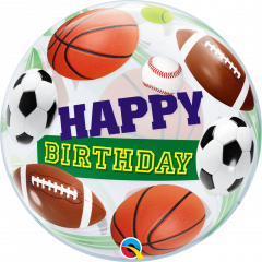 Bubble Bday Sport Balls pvc balon