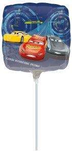 Mini Cars 3 folijski balon na štapiću