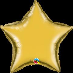 Mini Zvijezda folijski balon na štapiću 22,5cm - Gold
