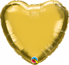 Mini Srce folijski balon na štapiću 22,5cm - Gold