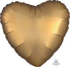 Standard srce Satin Luxe Gold Sateen folijski balon