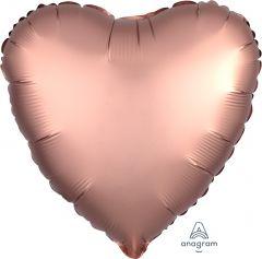Standard srce Satin Luxe Rose Copper folijski balon