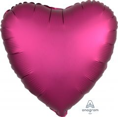 Standard srce Satin Luxe Pomegranate folijski balon